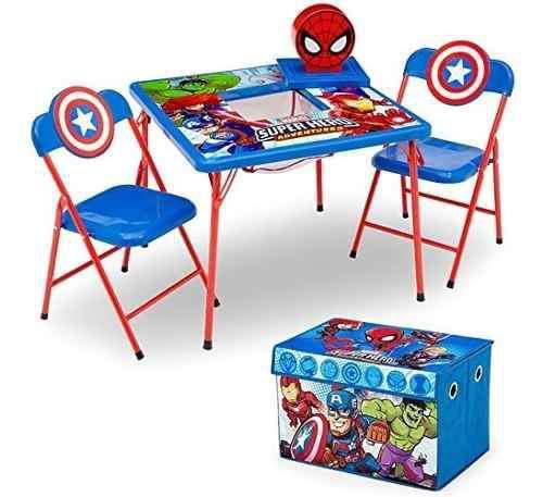 Juego de muebles para niños delta kids 4piece mesa de almac