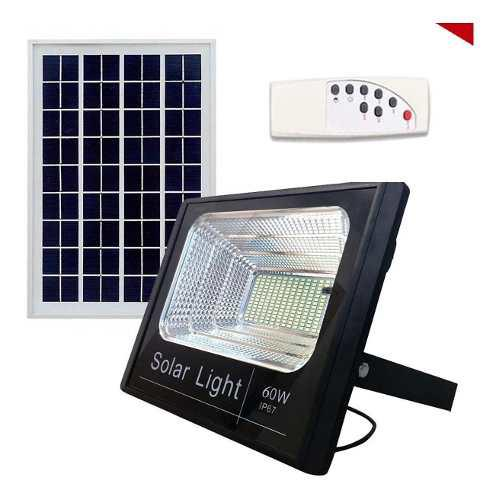 Lampara solar reflector 60w led panel solar original retilap