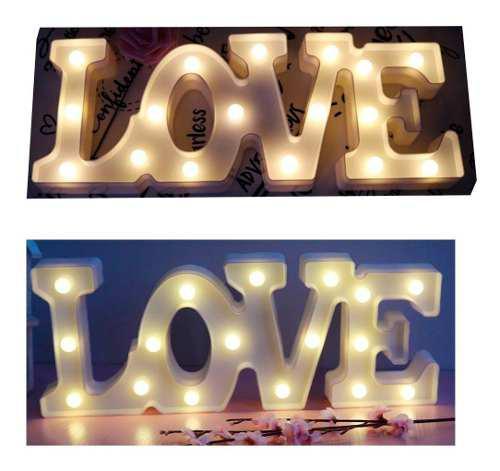 Letra luz led lampara decorativa luces love hogar fiesta