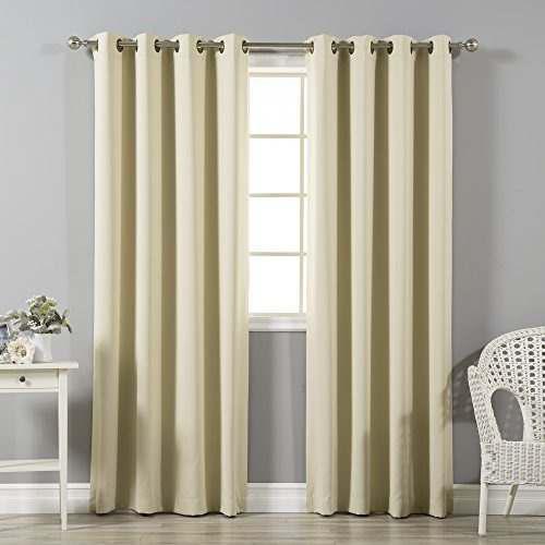 Mejor moda térmica aislante blackout cortinas - antiguo
