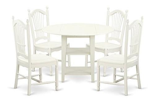 Muebles del este oeste sudo5lwhw sudbury juego de 5 sillas d