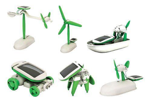 Robot 6 en 1 kit solar educativo para armar