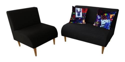 Sala basic 1 sofa + 1 poltrona + 2 cojines muebles vip