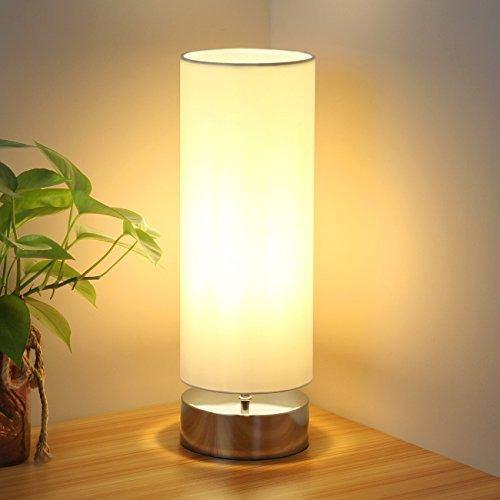 Touch control lampara de mesa mesita de noche minimalista la