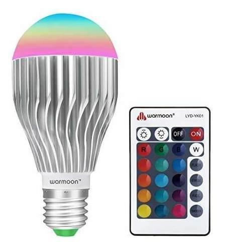 Warmoon e27 led foco 10w led que cambian de color rgb lampar