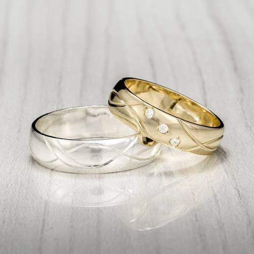Argollas De Matrimonio En Plata 950 Con Diamante Swaroski