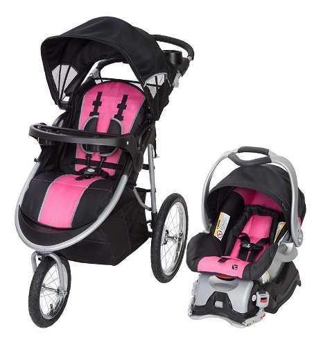 Coche bebe niña baby trend + silla carro oferta envio ya