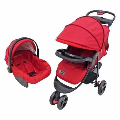 Coche bebe, silla de carro, con porta bebe y mecedor 4en1