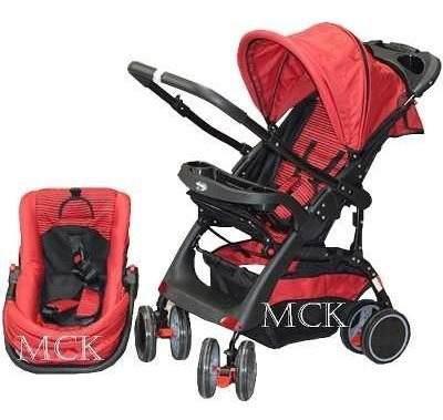 Coche para bebé + silla para carro+ portabebé y mecedor
