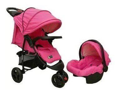 Coche para bebe, silla para carro, porta bebe y mecedor 4en1