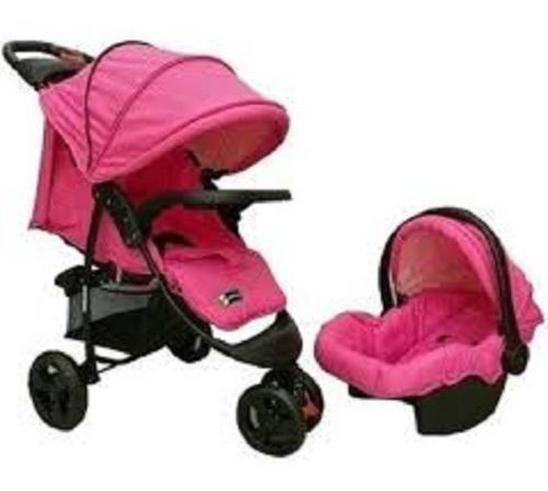 Coche para bebe,silla para carro, portabebé y mecedor 4en1