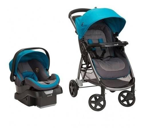 Coche y silla carro safety step and go azul bebés niños