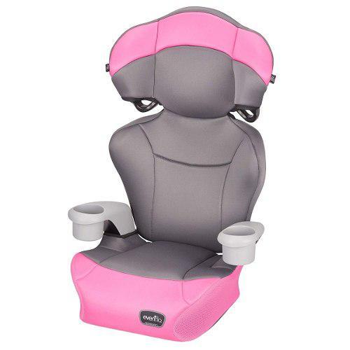 Evenflo big kid amp pink silla carro booster niña 2 en 1