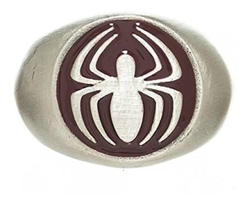 Marvel El Amazing Spiderman Anillo Níquel Cepillado | 8