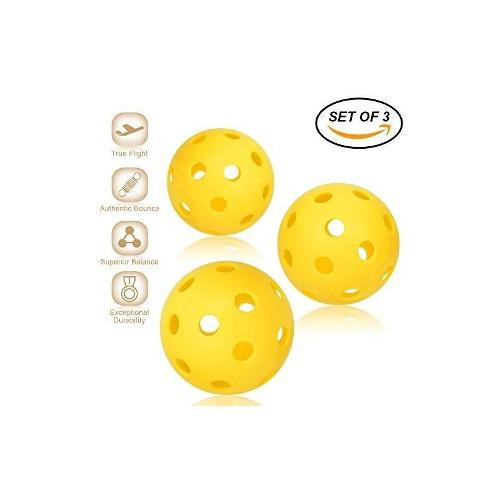 Pickleball balls - profesional patentado diseño de 26 hoyos