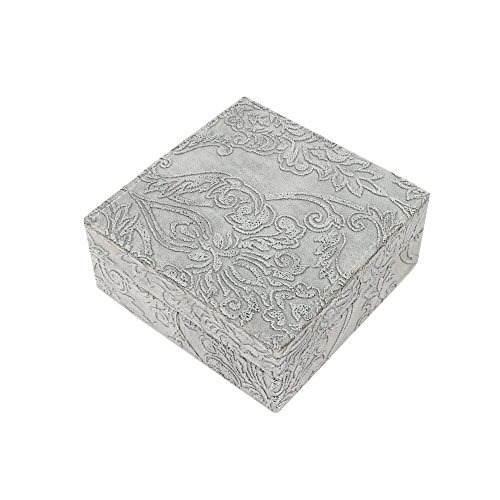 Truu diseño 8 x 8 pulgadas joya caja con patrón en relieve