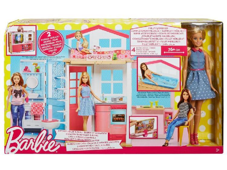 Barbie casa glam mansión 2 pisos juguete para niñas
