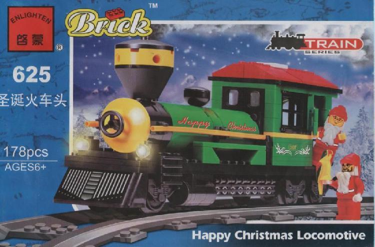 C625 tren locomotora de navidad juguetes para armar tipo