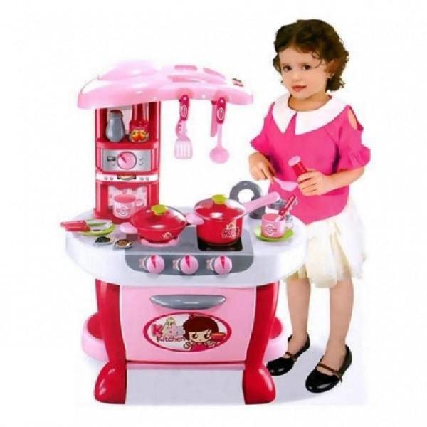 Cocina infantil sonido luces reales kids kitchen 3226982106