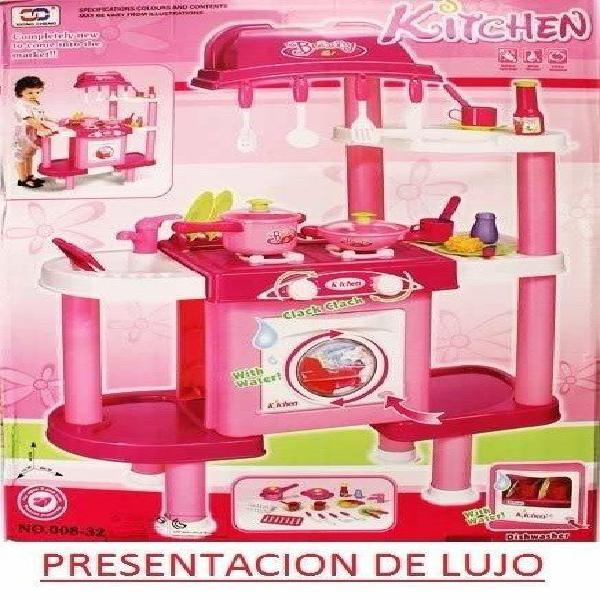 Cocina lavadora lavaplatos juguete niña agua rea