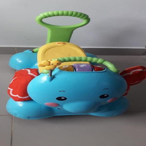 Montable y caminador elefante fisher price usado