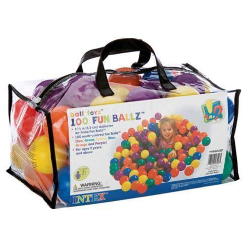 Set de pelotas de colores x 100 unidades intex