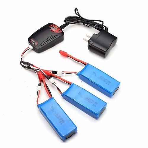 3x batería 2500mah pila drone syma x8c x8w x8hg + cargador