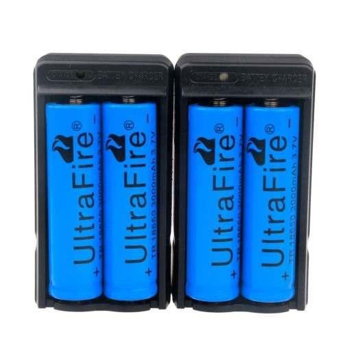 4x Ultrfire 3000mah 18650 Batería 3.7v Baterías