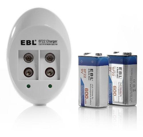 Batería recargable de iones de litio ebl 6f22 9v 600mah (pa