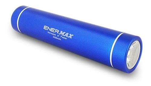 Cargador Bateria Pila Externo 2200 Mah + Linterna Enermax