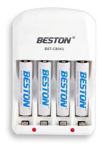 Cargador De Baterias Beston X4 Pilas 3000mah Bst-801b