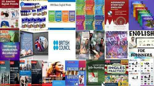 Colección 70 cursos de inglés+ 90 libros+ regalo