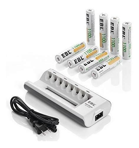 Ebl aa - cargador de batería recargable aaa con pilas