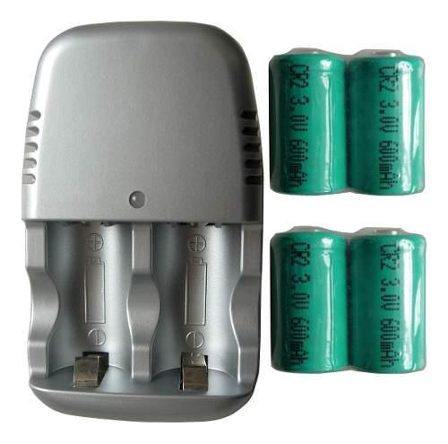 Nueva Batería Recargable Cr2 Cr-2 15270 4 X + Cargador...