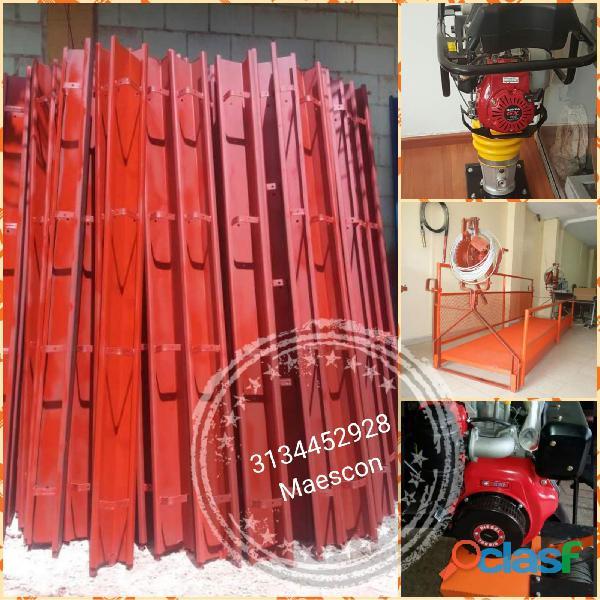 Rieles, bordillos, formaleta metálica para construcción