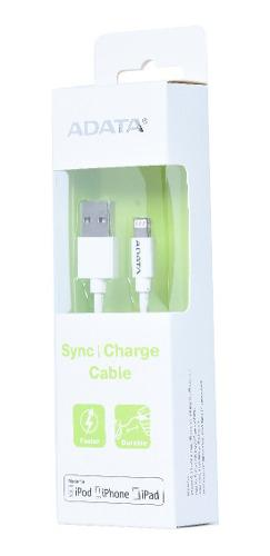 Adata apple lightning cable blanco sync iphone certificado