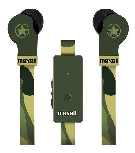Audifonos microfono manos libres control vo maxell camuflado