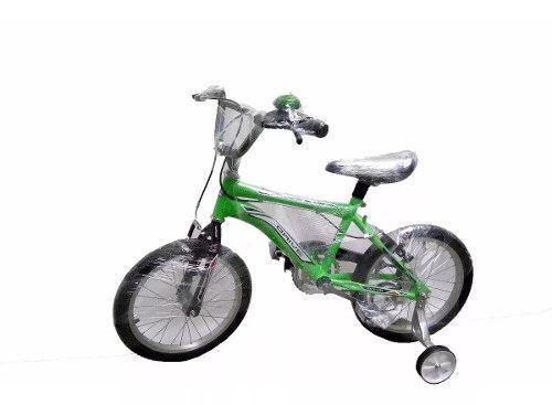 Bicicleta cross rin 16 llantas auxiliares niño