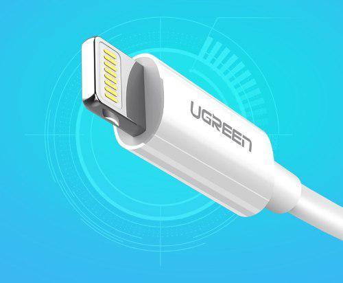 Cable lightning usb 1.5 metros blanco ugreen iphone ipod mfi