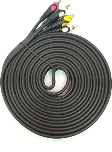 Cable rca 3x3 5m reforzado tv audio video