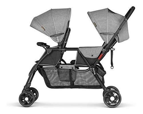 Coche bebes gemelos - doble gris bersey