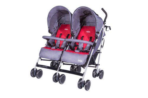 Coche paseador gemelos twins grey bebesit ref:s259gy
