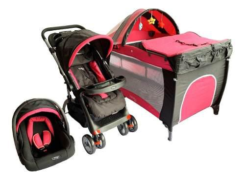 Combo coche para bebe corral cuna fragola kids envío gratis