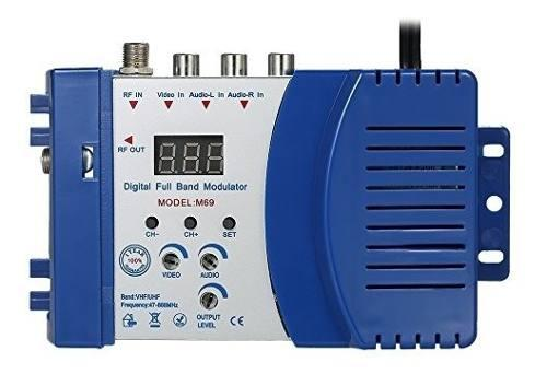 Kkmoon compacto rf modulador audio video tv convertidor rhf