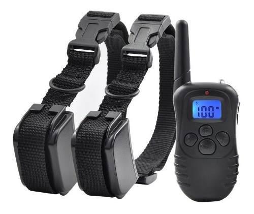 Collar entrenamiento perros eléctrico 2 collares recargable