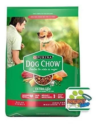 Dog chow adultos razas medianas y grandes por 22.7k + obsequ