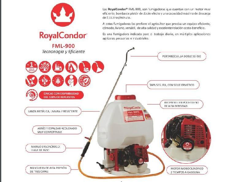 Fumigadora a motor de espalda royal condor 25 litros