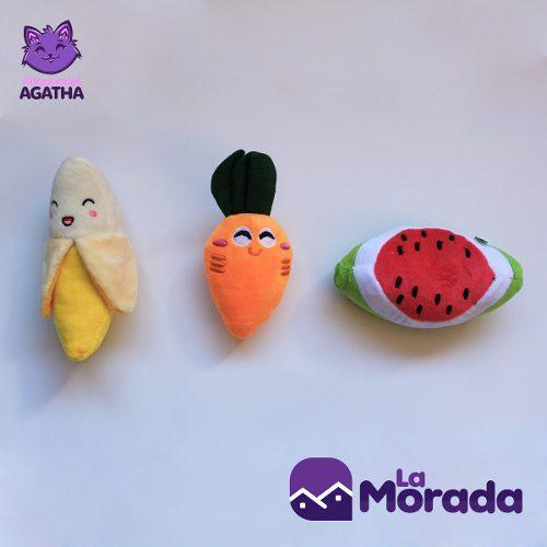 Juguete fruta sonador para mascota-apoyamos fundación