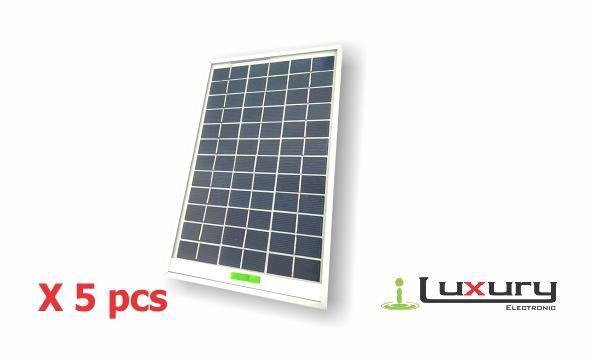 Panel solar fotovoltaico 5 w policristalino18v0.27a x5pcs