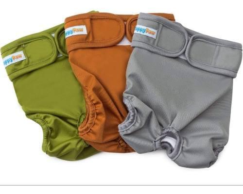 Pañales lavables reutilizables para perros (paquete de...